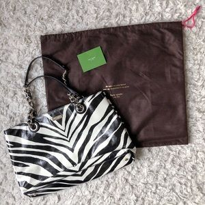 Kate Spade Zebra Purse With Chain Straps